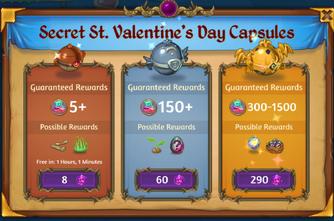 Secret St Valentines Day Capsules