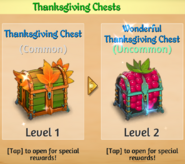 Thanksgiving Chests
