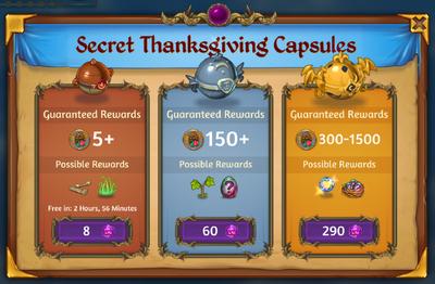 Secret Thanksgiving Capsules