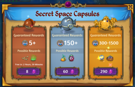 Secret Space Capsules Shop