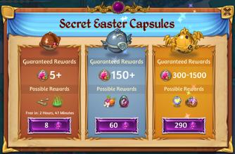 Secret Easter Capsules