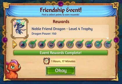 Friendship Event! Rewards