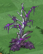 Deathly Hollow Tree with Necromancer Grass