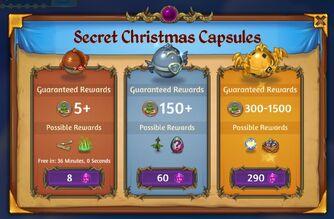 Secret Christmas Capsules