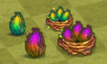 Tier 1 and 2 Grass Dragon Eggs and Nests