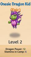 3 - Onesie Dragon Kid