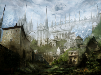 A medieval town by narandel-d6f8lks