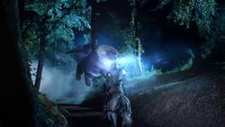 Lancelot killing the Griffin