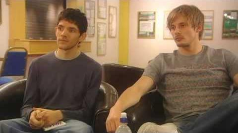 Bradley James & Colin Morgan - The Real Merlin and Arthur 1 3