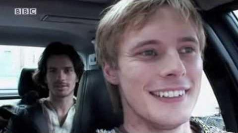 Bradley James - Merlin behind the Scenes 01.05 Lancelot