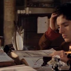 Merlin odnalazł zaklęcia ujawnienia, które miałoby ujawnić prawdziwą naturę trolla
