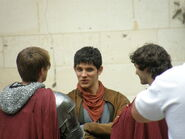 Bradley James Colin Morgan and Alexander Vlahos Behind The Scenes Series 5
