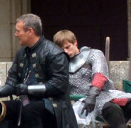 Anthony Head and Bradley James Behind The Scenes Series 3