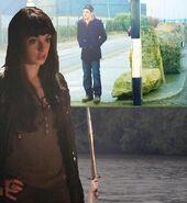 Modern Freya and (young) Merlin