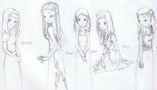 The ladies of Merlin fan art