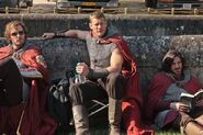Rupert Young Tom Hopper and Eoin Macken Behind The Scenes Series 4