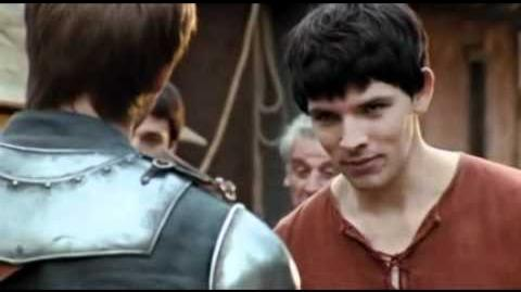 Merlin S01E01- Merlin and Arthur fights