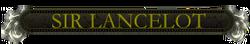 Lancelot nameplate