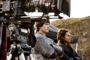 Alexander Vlahos and Angel Coulby Behind The Scenes Series 5-1
