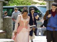 Bradley James Katie McGrath Angel Coulby and Colin Morgan Behind The Scenes