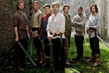 Gawaine, Elyan, Sir Lancelot, King Arthur, Merlin, Percival and Sir Leon