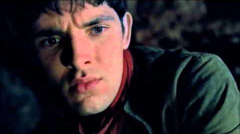 """Merlin 5x01 """"Arthur's Bane - part 1"""" Merlin sees Arthur's Bane"""