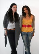 Katie McGrath and Angel Coulby