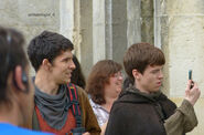 Colin Morgan and Alfie Stewart Behind The Scenes Series 5-4