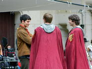 Bradley James Colin Morgan and Alexander Vlahos Behind The Scenes Series 5-4