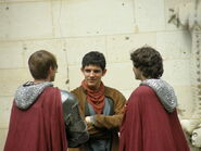 Bradley James Colin Morgan and Alexander Vlahos Behind The Scenes Series 5-1