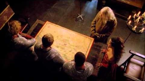 "Merlin 5x01 ""Arthur's Bane - part 1"" Merlin, Arthur and Gwen Scene 2"