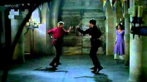 Duel between Arthur and Lancelot's Shade