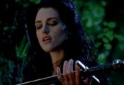 Morgana holding sword