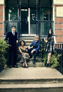 Colin Morgan Angel Coulby Bradley James and Katie McGrath