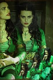Morgana's green dress