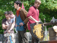 Colin Morgan and Bradley James Behind The Scenes Series 4-1