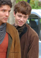 Colin Morgan and Alfie Stewart Behind The Scenes Series 5-6