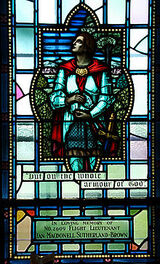 220px-Royal Military College of Canada memorial window to Ian Sutherland Brown Sir Lancelot whole armour of God