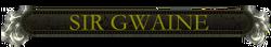 Gwaine nameplate