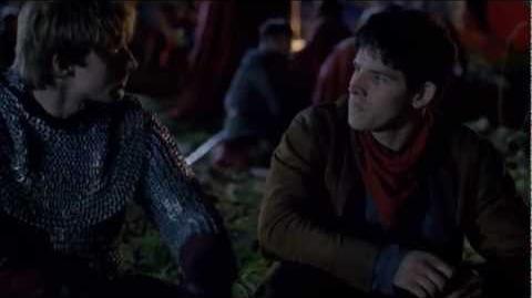 """Merlin 5x01 """"Arthur's Bane - part 1"""" Arthur and Merlin scene 2"""
