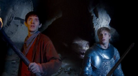 Merlin, Arthur and the Questing Beast
