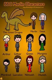 Merlin characters cartoon fan art