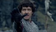 Mordred is using magic