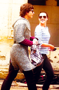 Alexander Vlahos and Katie McGrath Behind The Scenes Series 5
