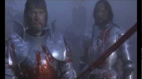 Excalibur Mordred's death