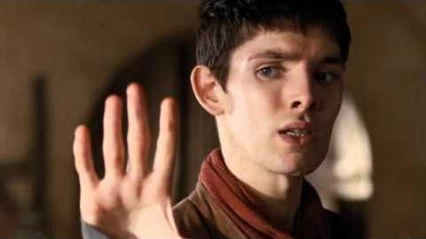 Duel between Merlin and the Goblin