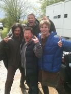 Eoin Macken Tom Hopper Bradley James and A Fan Behind The Scenes Series 5