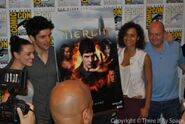 Merlin Cast and Crew Comic Con 2012-6
