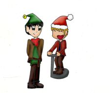 Merlin and arthur christmas by manicgirlxx-d4fndbw