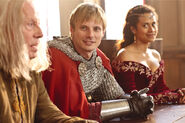 Richard Wilson Bradley James and Angel Coulby Behind The Scenes Series 5